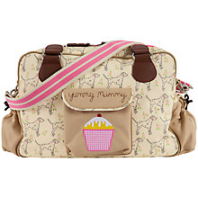 Buy Pink Lining Yummy Mummy Dalmatian Print Changing Bag, Beige Online at johnlewis.com