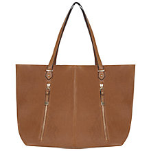 Buy Miss Selfridge Zip Slouch Shopper Bag, Tan Online at johnlewis.com
