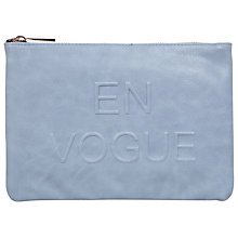 Buy Miss Selfridge En Vogue Clutch Bag, Blue Online at johnlewis.com