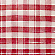 Buy John Lewis Beatrix Check Fabric, Crimson Red Online at johnlewis.com