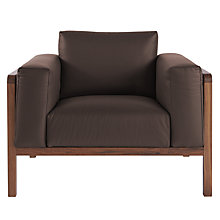 Buy John Lewis Heming Faux Leather Armchair Online at johnlewis.com