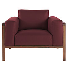 Buy John Lewis Heming Leather Look Armchair Online at johnlewis.com