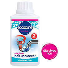 Buy Ecozone Plughole Hair Unblocker, 300g Online at johnlewis.com