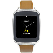Buy Asus ZenWatch Smartwatch, Android Wear, Brown Leather Band Online at johnlewis.com