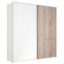 Buy John Lewis Treviso 200cm Alpine White Wardrobe with Glass and Rustic Oak Sliding Doors Online at johnlewis.com