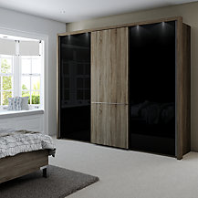 Buy John Lewis Treviso 200cm Wardrobe With Rustic Oak And Bronzed Mirrored Sliding Doors John