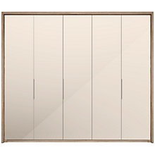 Buy John Lewis Satis 250cm Wardrobe with Mirrored Hinged Doors Online at johnlewis.com