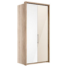 Buy John Lewis Satis 100cm Wardrobe with Glass and Bronzed Mirrored Hinged Doors Online at johnlewis.com