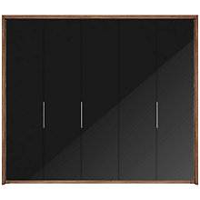 Buy John Lewis Satis 250cm Wardrobe with Glass Hinged Doors Online at johnlewis.com