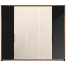 Buy John Lewis Satis 250cm Wardrobe with Glass and Mirrored Hinged Doors Online at johnlewis.com