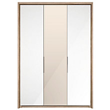 Buy John Lewis Satis 150cm Wardrobe with Glass and Mirrored Hinged Doors Online at johnlewis.com