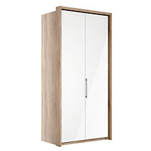 Buy John Lewis Satis 100cm Wardrobe with Glass Hinged Doors Online at johnlewis.com