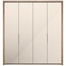 Buy John Lewis Satis 200cm Wardrobe with Mirrored Hinged Doors Online at johnlewis.com