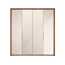 Buy John Lewis Satis 200cm Wardrobe with Glass and Mirrored Hinged Doors Online at johnlewis.com