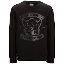 Buy Selected Homme Biker Blood Graphic Print Sweatshirt, Black Online at johnlewis.com