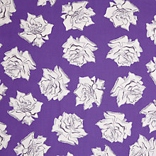 Buy John Lewis Abstract Rose Fabric, Blue Online at johnlewis.com
