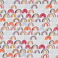 Buy Dashwood Drawn Rainbows Fabric, Multi Online at johnlewis.com