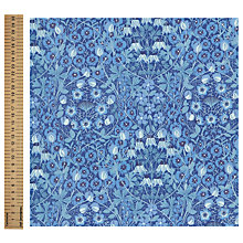 Buy John Lewis Elegant Floral Print Fabric, Blue Online at johnlewis.com