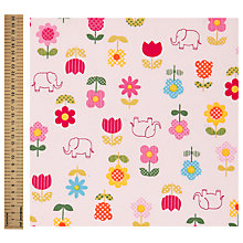Buy John Lewis Elephant and Flower Print Fabric, Multi Online at johnlewis.com