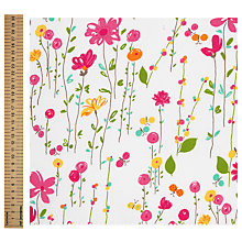 Buy John Lewis Flower and Butterfly Print Fabric, Multi Online at johnlewis.com