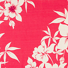 Buy John Lewis Hibiscus Floral Fabric, Coral Online at johnlewis.com