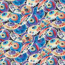 Buy John Lewis Parasol Print Fabric, Purple Online at johnlewis.com