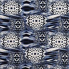 Buy John Lewis Mixed Animal Print Fabric, Blue Online at johnlewis.com