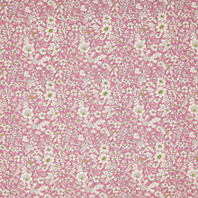 Buy John Lewis Sketchy Floral Cotton Poplin Fabric, Pink Online at johnlewis.com