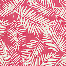 Buy John Lewis Palm Leaf Print Fabric, Bright Pink Online at johnlewis.com