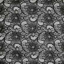 Buy John Lewis Corded Lace Fabric, Black Online at johnlewis.com