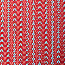 Buy John Lewis Fine Stripe Fabric, Red Online at johnlewis.com