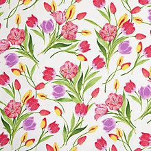 Buy John Lewis Tulips Fabric, Pink/Purple Online at johnlewis.com