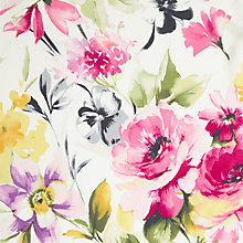Buy John Lewis Spring Floral Fabric, Pink Online at johnlewis.com
