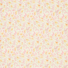 Buy John Lewis Cluster Buttercup Fabric, Yellow/Pink Online at johnlewis.com