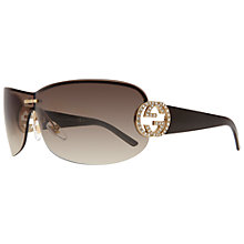 Buy Gucci GG 4224 S RH3 Wraparound Sunglasses, Brown Online at johnlewis.com