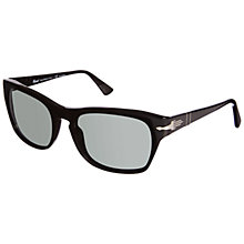 Buy Persol PO3072S Polarised Rectangular Sunglasses, Black Online at johnlewis.com