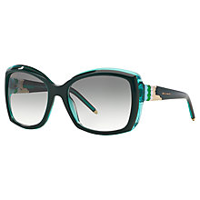 Buy Bvlgari BV8133 Oversized Sunglasses, Dark Green Online at johnlewis.com