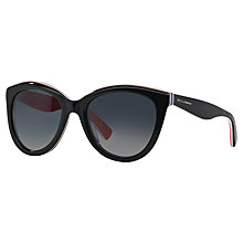 Buy Dolce & Gabbana DG4207 Polarised Cat's Eye Frame Sunglasses, Black Online at johnlewis.com