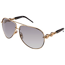 Buy Gucci GC4225/S Aviator Sunglasses, Brown Online at johnlewis.com