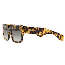 Buy Prada PR28PS 7S00A7 Square Sunglasses, Havana Online at johnlewis.com