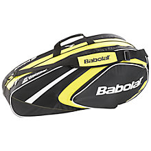 Buy Babolat 6 Pack Tennis Racket Bag, Black/Yellow Online at johnlewis.com