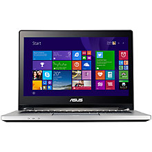 "Buy Asus Transformer Book Flip TP300LA Convertible Laptop, Intel Core i7, 8GB RAM, 1TB, 13.3"" Touch Screen, Black & Silver Online at johnlewis.com"