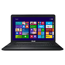 "Buy ASUS X751LD Laptop, Intel Core i3, 8GB RAM, 1TB, 17.3"", Black Online at johnlewis.com"