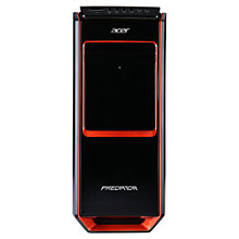 Buy Acer Predator G3-605 Desktop PC, Intel Core i7, 16GB RAM, 2TB + 64GB SSD, Blu-ray, Black & Orange Online at johnlewis.com