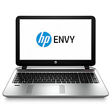 "Buy HP Envy 15-k209na Laptop, Intel Core i5, 12GB RAM, 1TB + 8GB SSD, 15.6"", Silver Online at johnlewis.com"