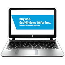 "Buy HP Envy 15-k201na Laptop, Intel Core i7, 8GB RAM, 1TB + 8GB SSD, 15.6"", Silver Online at johnlewis.com"