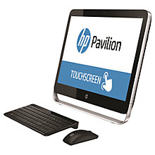 "Buy HP Pavilion TouchSmart 23-p255na All-in-One Desktop PC, Intel Core i5, 8GB RAM, 2TB, 23"" Touch Screen, Black Online at johnlewis.com"