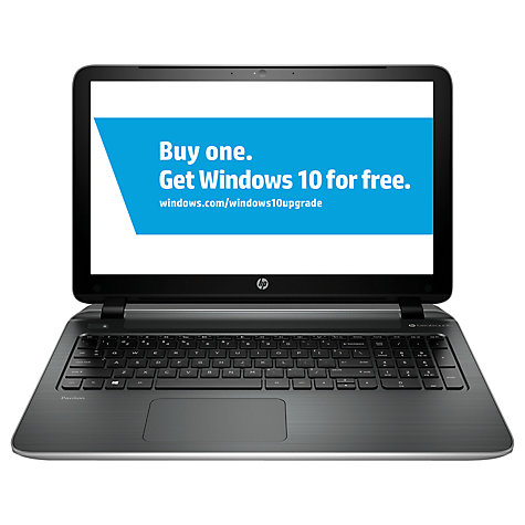 "Buy HP Pavilion 15-p251na Laptop, AMD A10, 12GB RAM, 2TB, 15.6"", Silver Online at johnlewis.com"