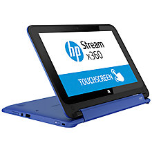 "Buy HP Stream x360 11-p010na Convertible Laptop, Intel Celeron, 2GB RAM, 32GB Flash Storage, Windows 8.1 & Office 365, 11.6"" Touch Screen, Blue Online at johnlewis.com"