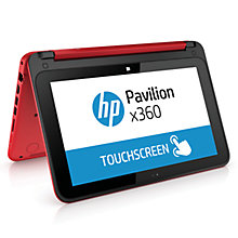 "Buy HP Pavilion x360 11-n012na Convertible Laptop, Intel Celeron, 4GB RAM, 500GB, 11.6"" Touch Screen Online at johnlewis.com"